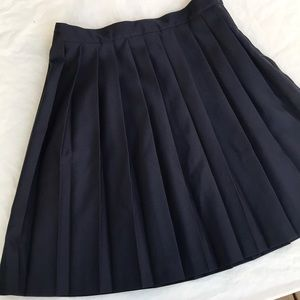 French Toast Navy Blue Pleated uniform skirt Youth